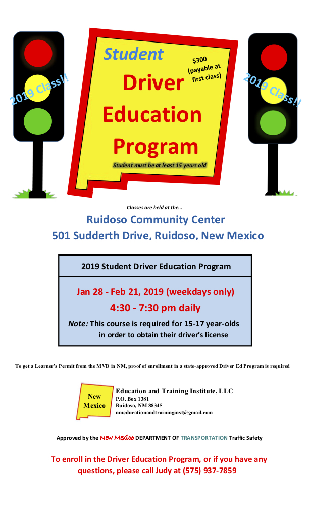 Driver's Ed Course for Students - Revised Flyer.jpg