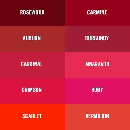 Coloring Your Brand Shades Of Red Ada Creative Design