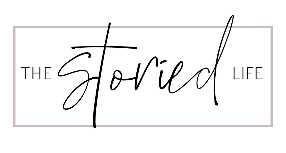 The Storied Life logo created by Ada Creative Design. Graphic Design.