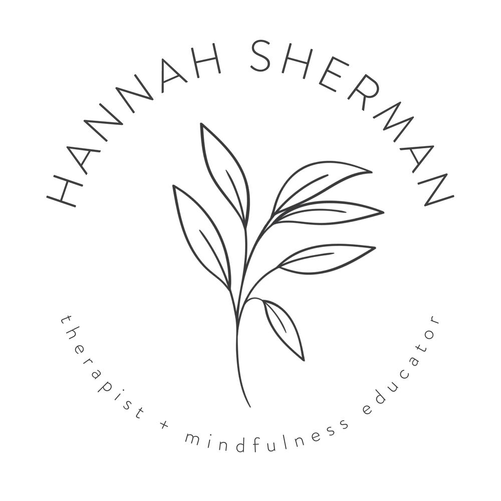 Hannah Sherman Logo Charcoal