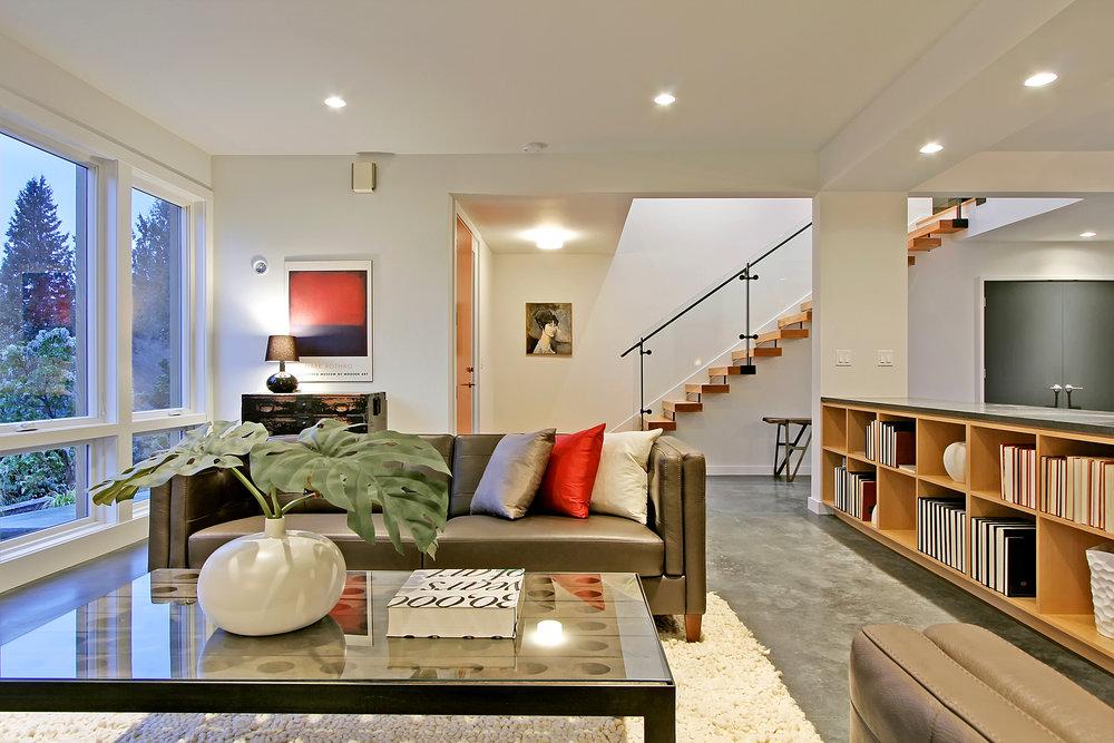 Concrete Floors Living Room