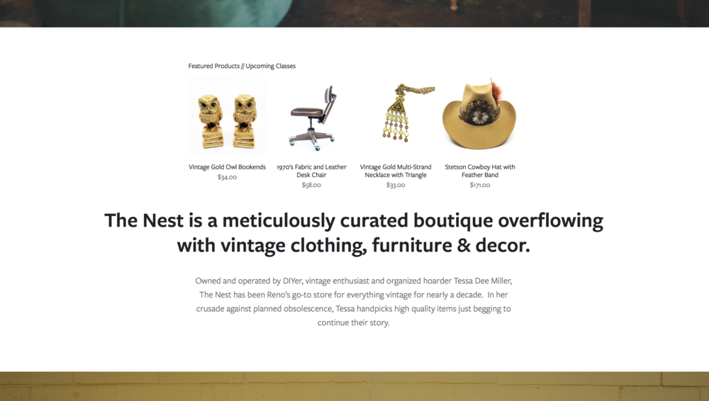 The Nest Reno — Retail Business