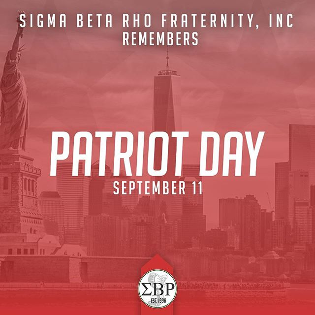 The brothers of Sigma Beta Rho remember the events on September 11th, 17 years ago today. We express our condolences for all of the innocent souls lost on this day and thank the brave individuals who risked their lives to save others. #NeverForget #Remembrance