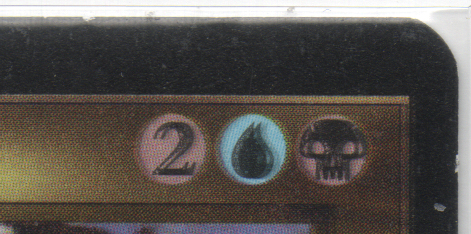 Looking at the mana symbols we can see 2 additional copies have been printed on this Breathstealer's Crypt!