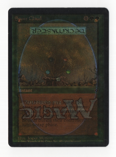 Double Prints: Some cards from various sets have one side that's been printed on twice. There are a few possible variations and has been seen in Fallen Empires, Mercadian Masques, Tempest, French Scourge, Japanese Nemesis, Weatherlight, and 5th Edition!