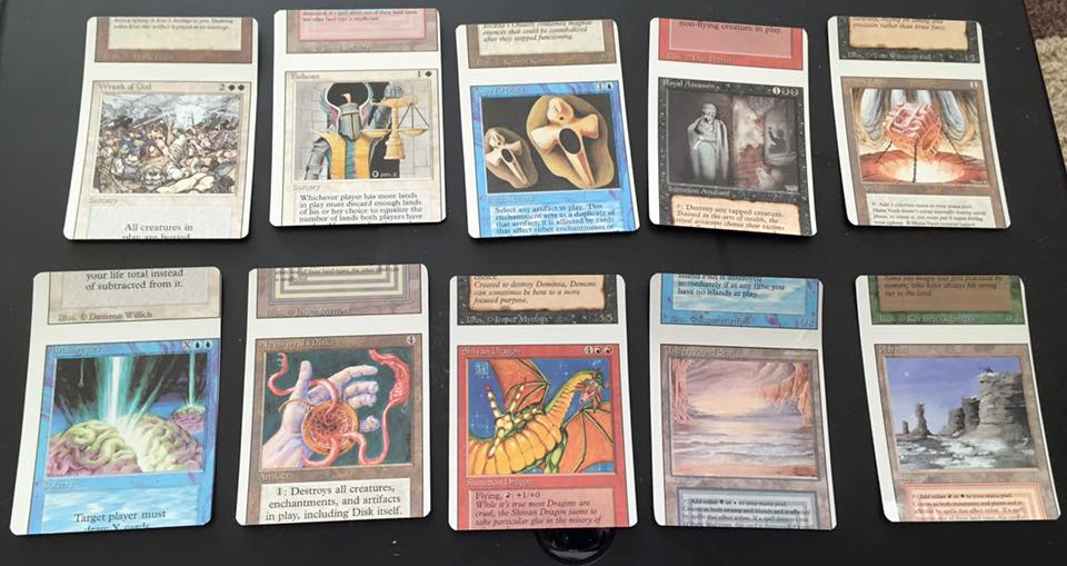 Notice how all of these NFCs are curved. The top and bottom of each card isn't even resting on the flat surface. Image courtesy of Eli Kassis.