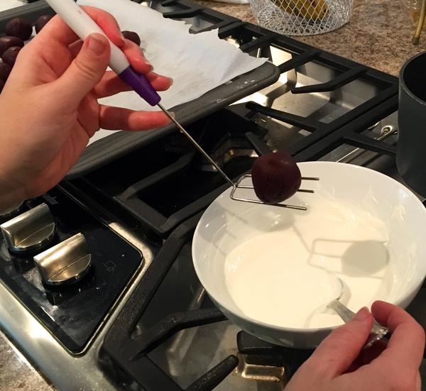 Dipping Red Velvet Truffles