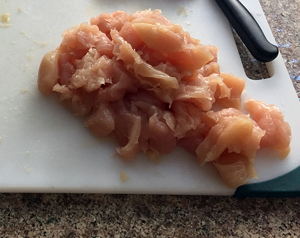 Sliced Raw Chicken