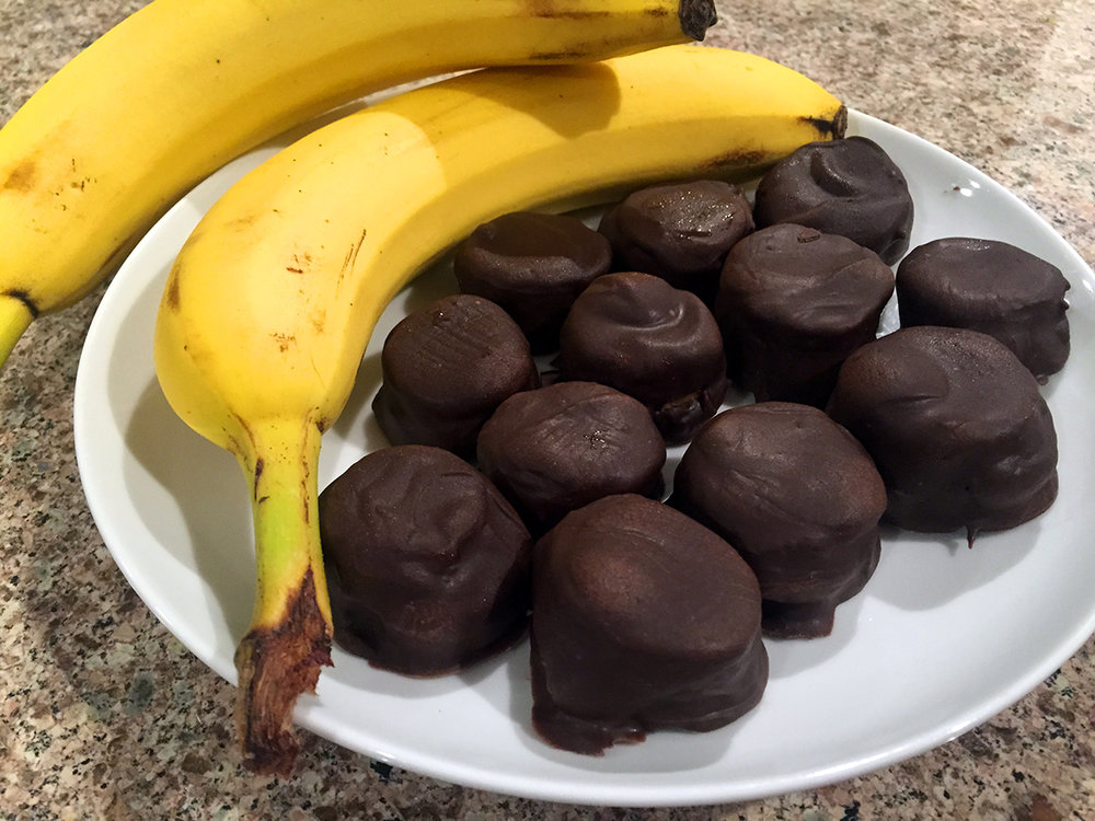Dark Chocolate Energy Bites with Bananas