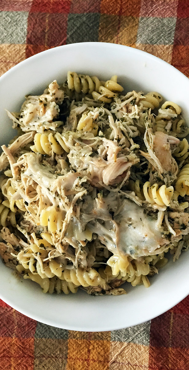 Pesto Chicken Pasta with Mozzarella