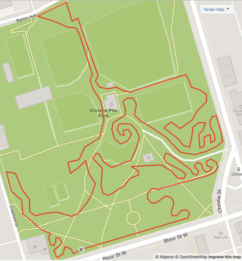 Our updated course layout... 2.6k of fun and excitement. Thanks to Dan B for the cartography and course mapping.