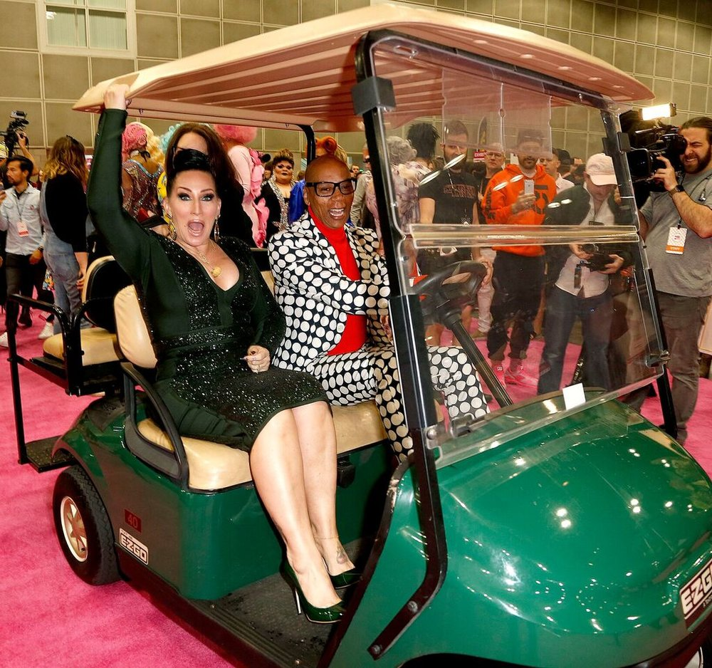 2 RuPaul's DragCon Ru and Michelle on Golf Cart_preview.jpeg