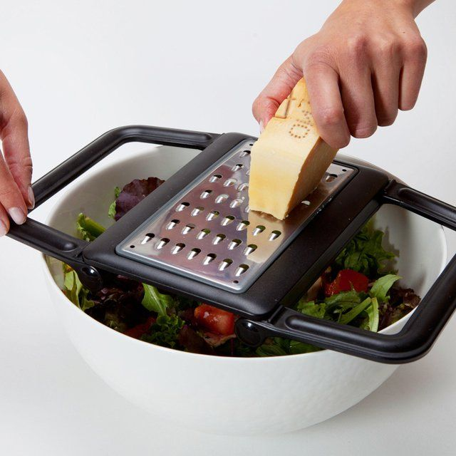 Grate directly into a bowl, for less mess.