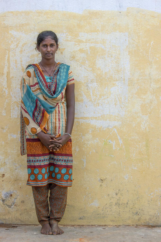 Sathya, a 17 year old girl I met in a Tamil Nadu village. 2014.