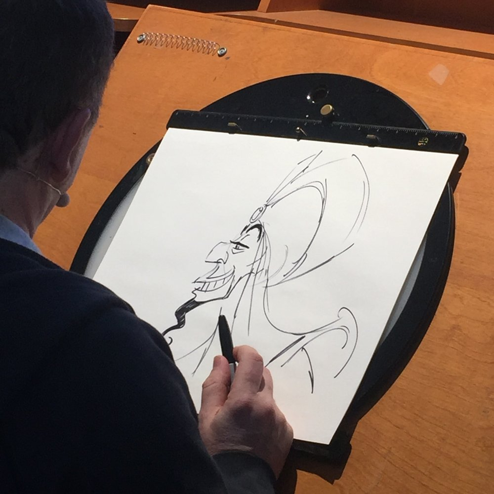Had the privilege of standing right behind Andreas Deja as he casually sketched.. He animated Scar, Jafar, Gaston... no big deal!