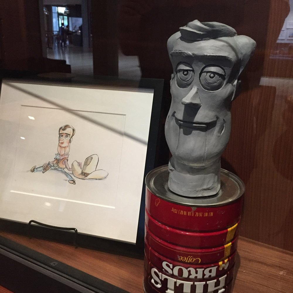 One of the first maquettes of Woody!