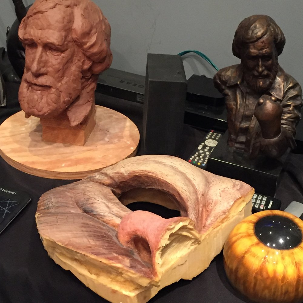 Jim Henson bust, and a cross section Wild Thing
