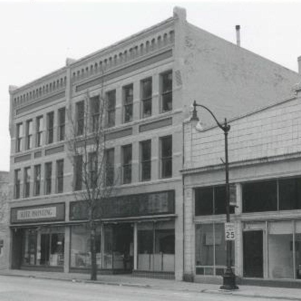 BUSINESS AWARD WINNER 2017   Frank Percey Fur & Gun (1900)   531 N. Main St. | Oshkosh, WI   WTHP project info    Wisconsin Historical Society Record