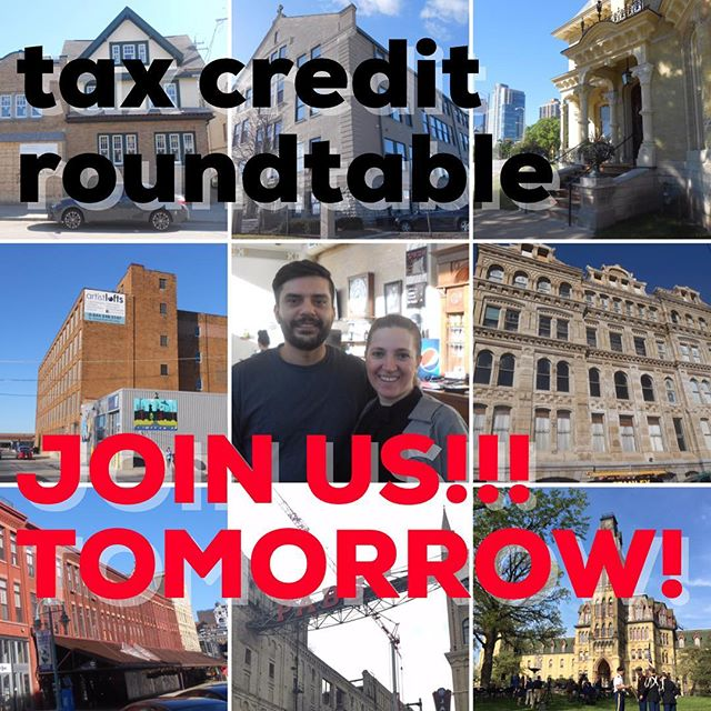 ☎️🆘You're invited!!!! (LINK IN BIO) TOMORROW 3-5 PM. FEDERAL & STATE historic tax credits are no longer (see proposed tax reform bill)... . . There's a long road ahead to reinstate these invaluable programs. Are you able to support job creation, elevated tax bases, decreased vacancies and preservation of our local communities? Want to hear more about how?! . LOTS to get behind! .  WE NEED YOUR HELP!!!!!! Your voice, your support! . Join the discussion tomorrow in Milwaukee, visit our website to subscribe for our updates. . THANK YOU!!!!!