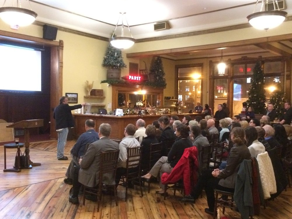 Blue Ribbon Hall at Best place.Matt Jarosz talks about the Historic Tax Credit program.