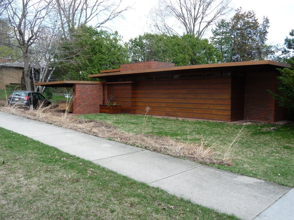 Herbert and Katherine Jacobs House, Madison, WI - Prototype of Wright's Usonian design concepts.
