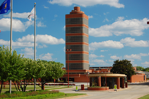 Research Tower at SCJohnson company headquarters -Racine. Photo courtesy of Eric Allix Rogers on Flickr.