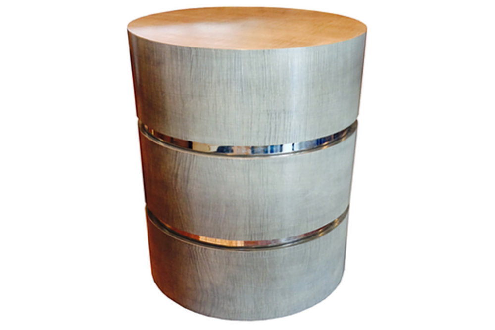 THREE TIER DRUM TABLE