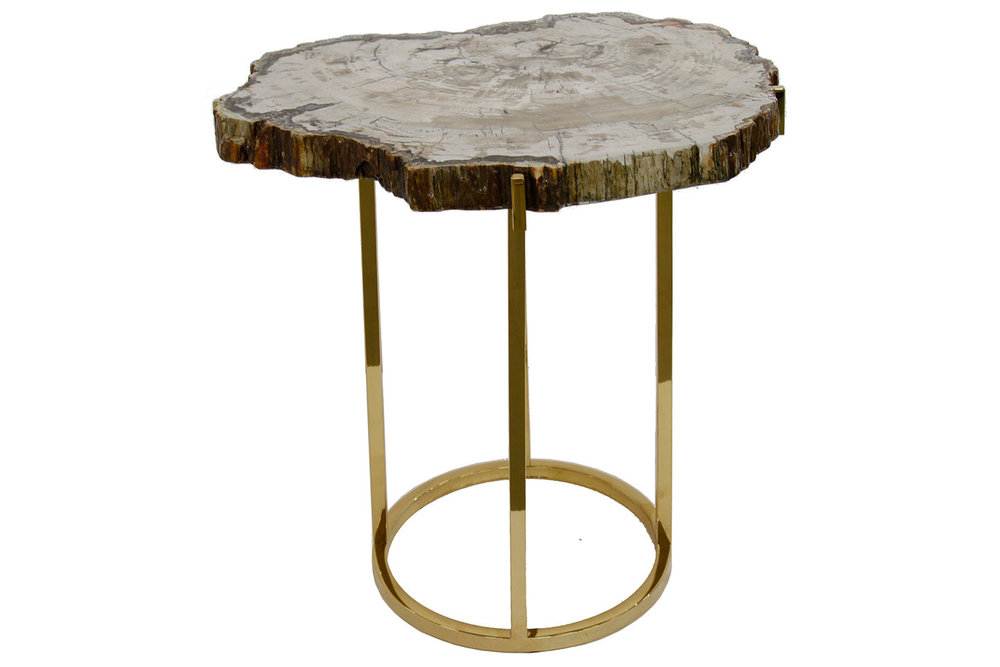 petrified wood table — j. alexander furniture