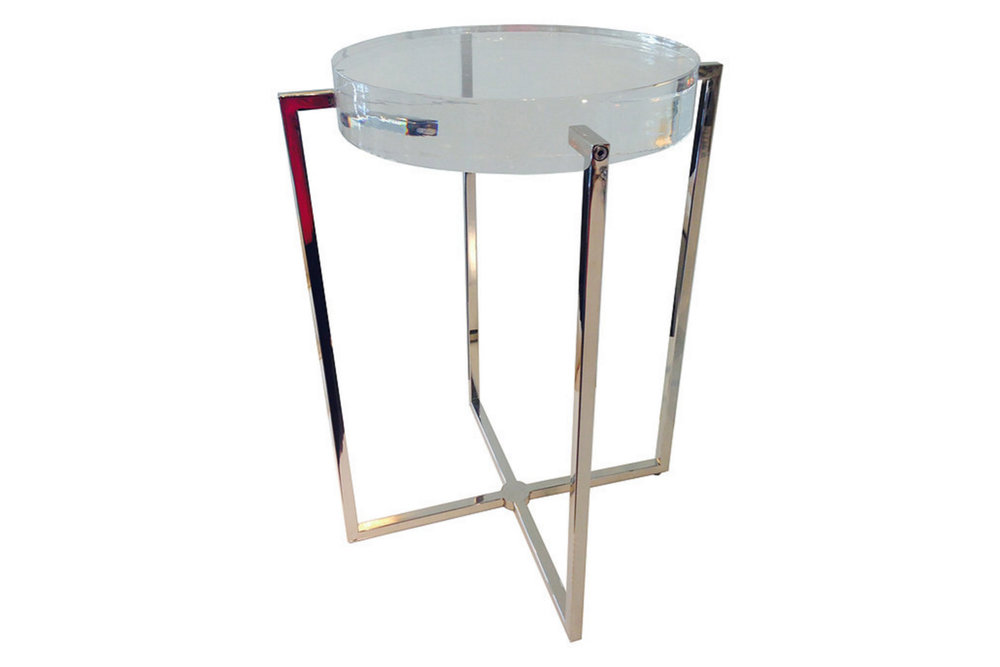 Lucite End Table