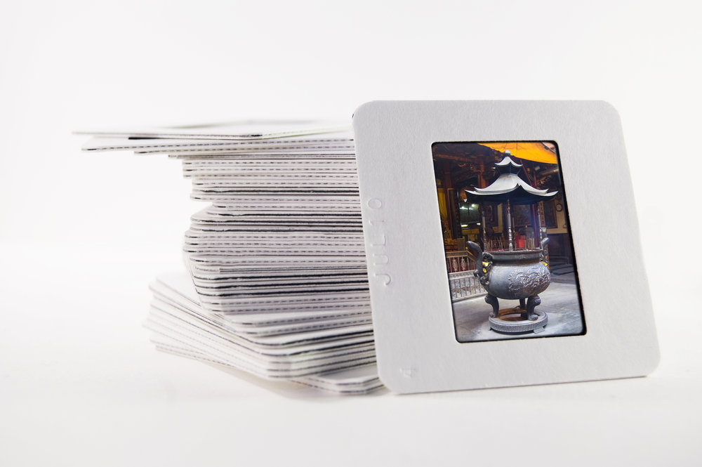 Leave the scanning to us! - If you've ever tried to scan a stack of slides at home, you know how difficult and time consuming it can be to get a great image. Keepsake Solutions staff treats each slide like it's one-of-a-kind, ensuring that every scan turns out perfectly.