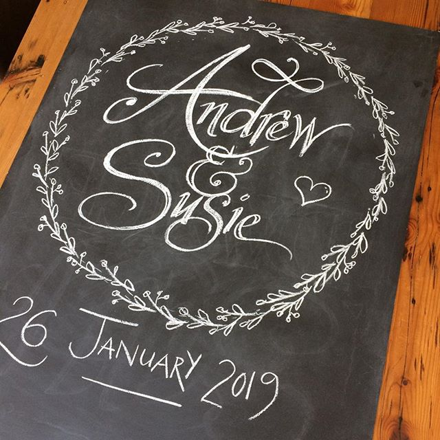 Blackboards for the lovely couple's big day on Saturday. Wishing you all the best & praying for the best weather ever for your beach ceremony 😍😎