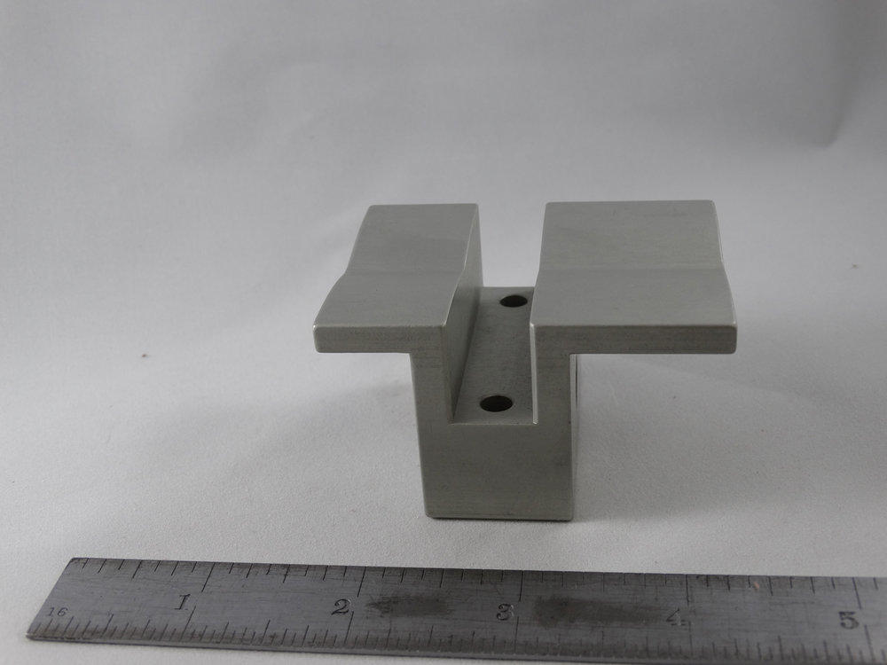 CNC Milled Part - Material: 6061 Aluminum - Finish: Clear Anodize