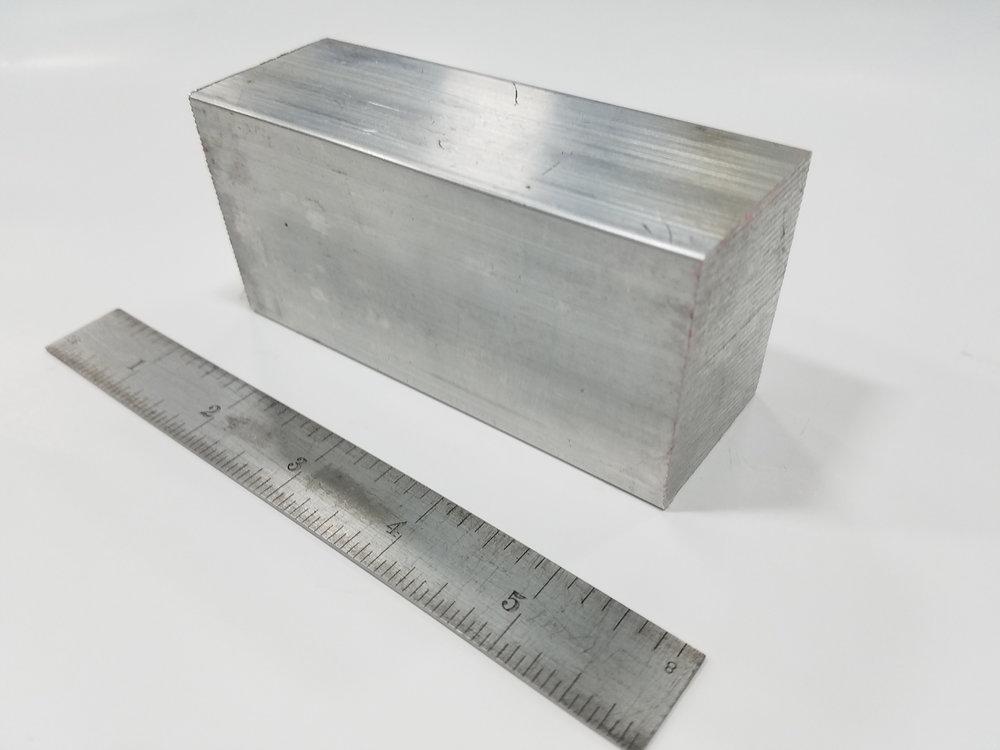 CNC Sawed Part - Material: 6061 Aluminum Block