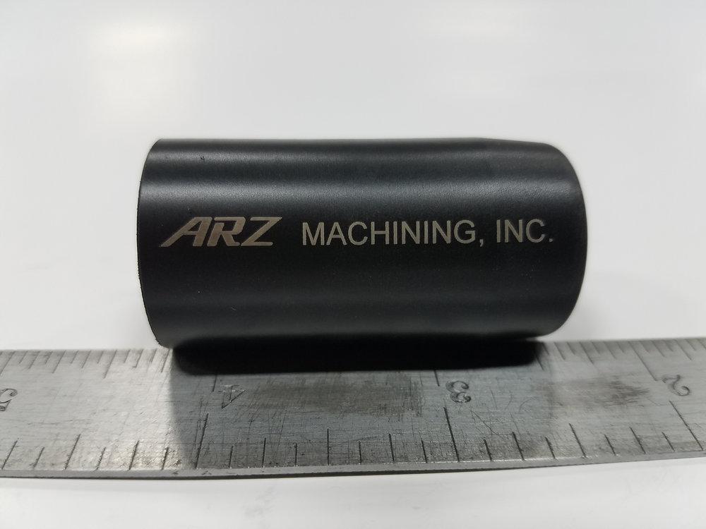 Laser Engraved Part - Material: Black Delrin