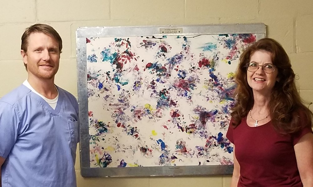 Unique Puppy Paws Painting Donated to Montevallo Animal Clinic  |   Read More >>