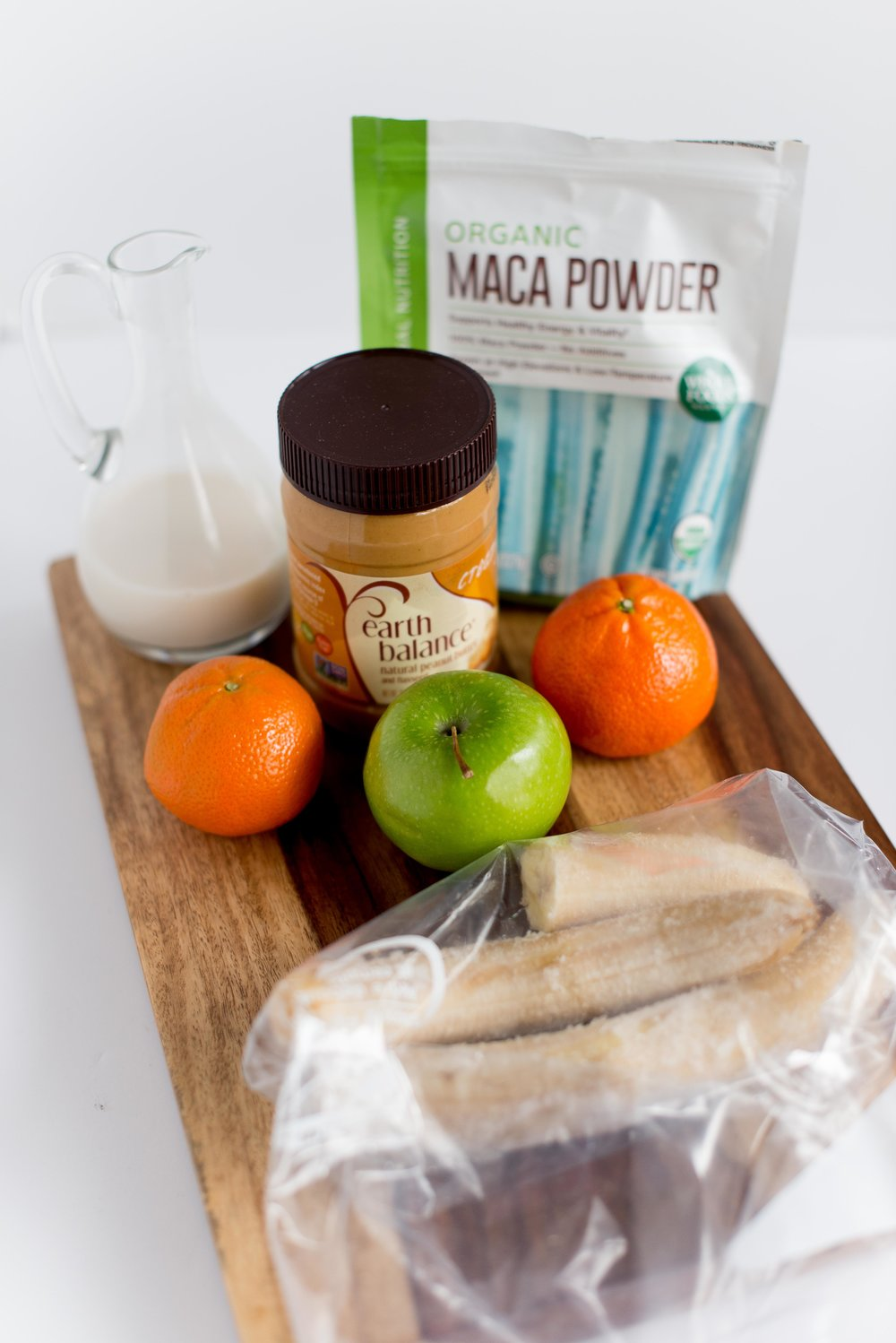 peanut butter and banana maca smoothie