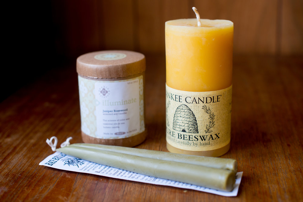 three Parabin Free Non Toxic Clean Burning Candles