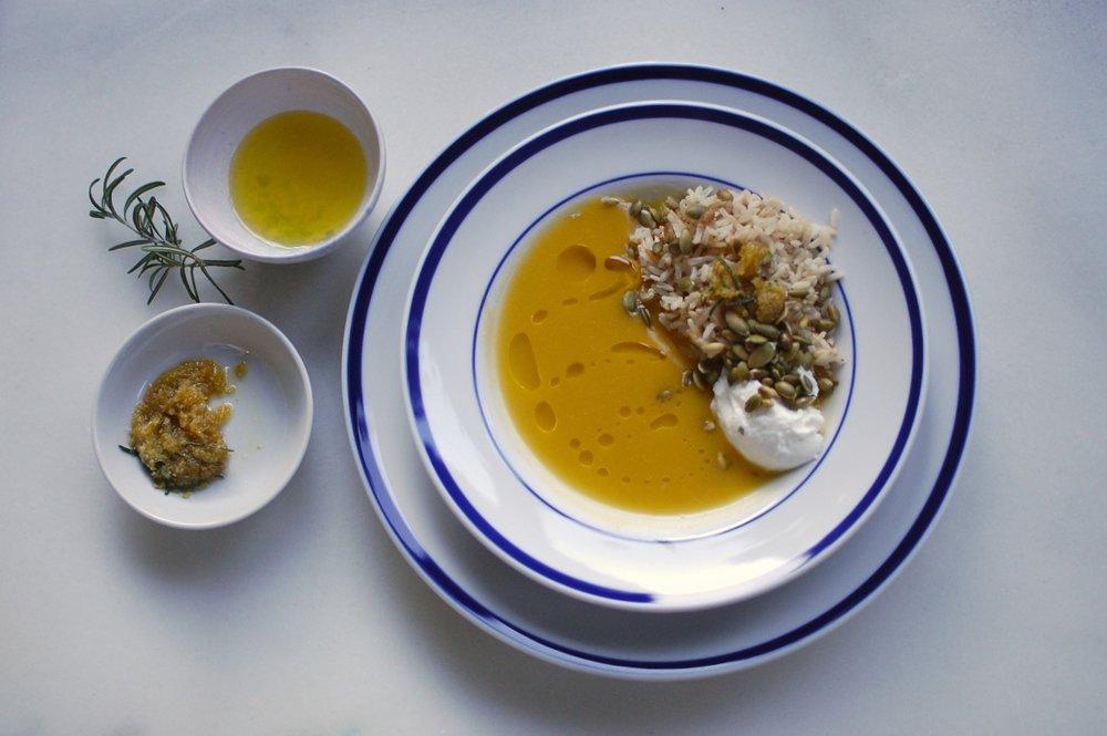butternut squash rice soup