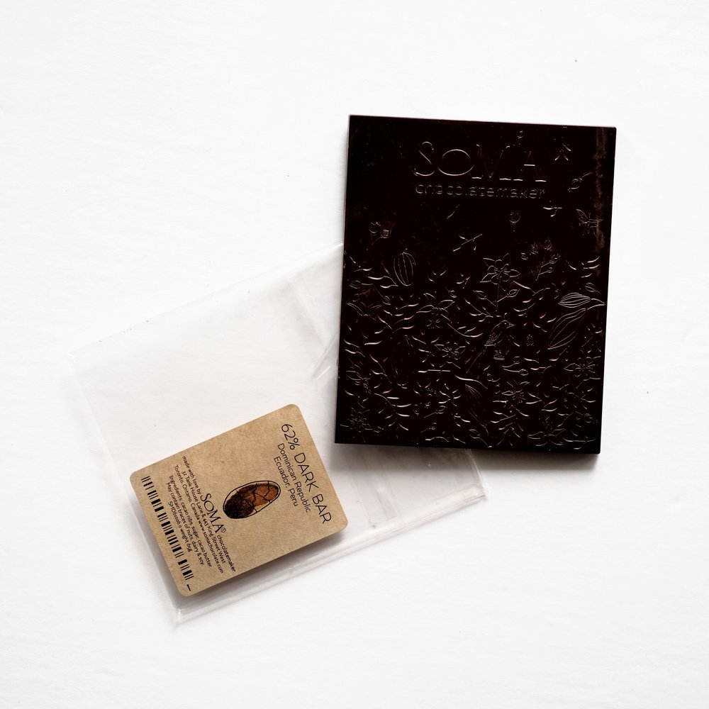 Chocolate bar from  Soma Chocolatemaker