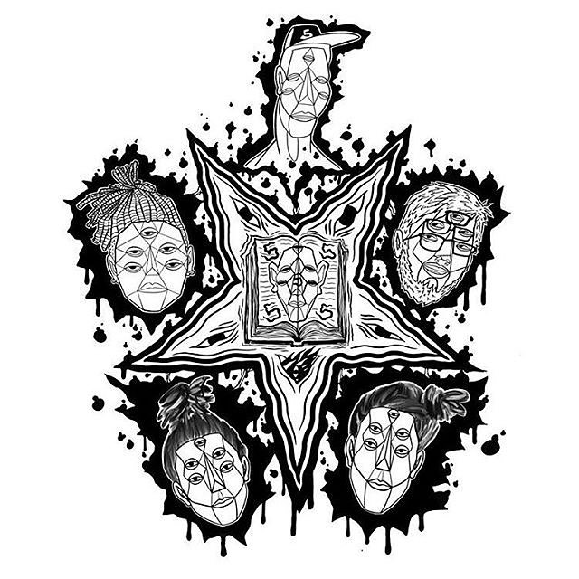 @bleepbloopbass Prologus Auxillium cover art. Shout out to bleep, satan, and the number 5. I'm pretty sure just plain old 5 is the number of the beast tbh