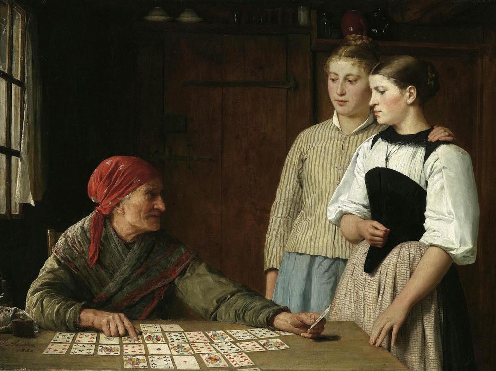 Fortune Teller, Albert Anker 1880