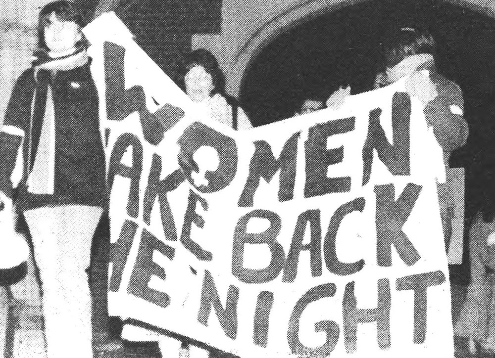 Daily Princetonian clipping featuring the annual Take Back the Night march.