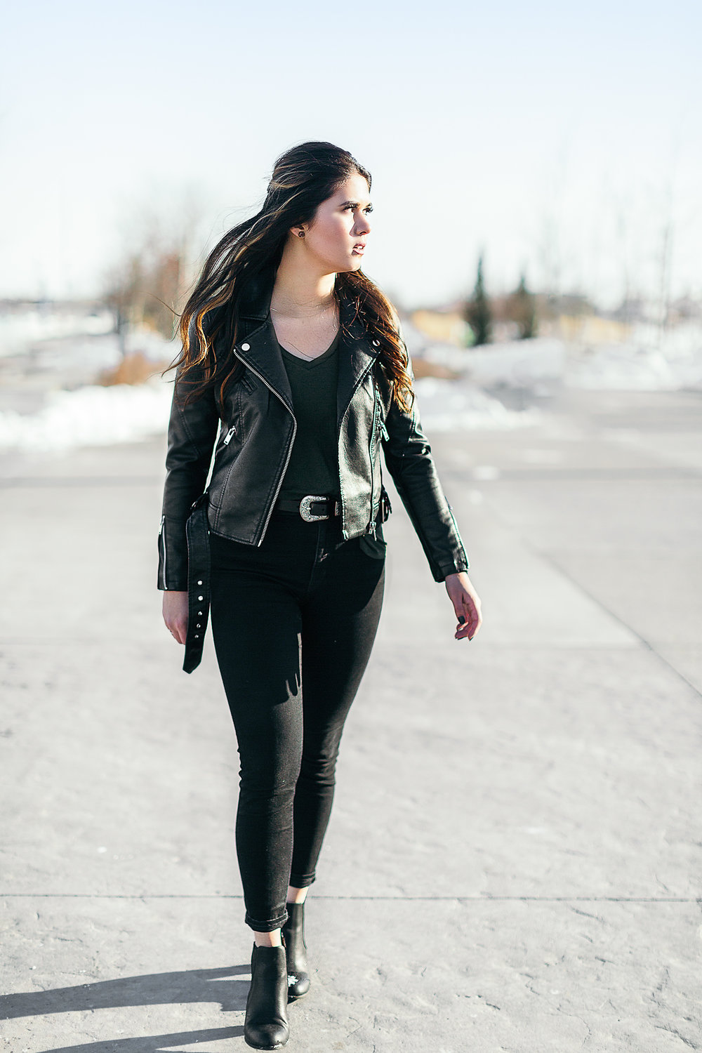 Vegan Faux-leather jacket from 27 Boutique, East Village, Calgary, Alberta