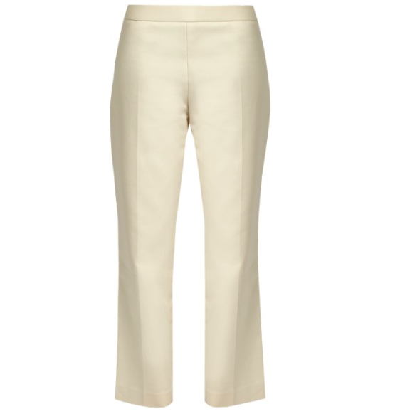 The Row Seloc Cropped Stretched-cotton trousers $794