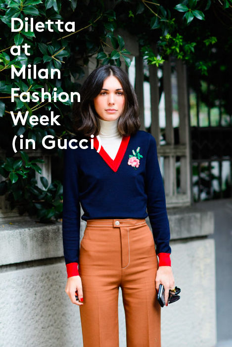 Gucci Wool turtleneck sweater with embroidered appliqué $1,230