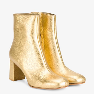 Maryam Nassir Zadeh Agnes Metallic Leather Ankle Boots $725