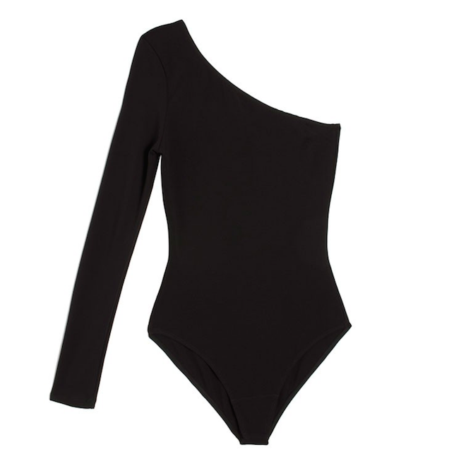 Maryam Nassir Zadeh Black gabi one armed leotard $284