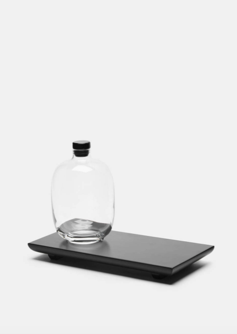 Nude Whiskey Decanter and Black Serving Tray $99