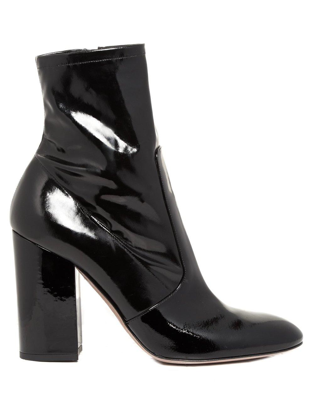 Valentino Women's patent block heeled ankle boots $1,280