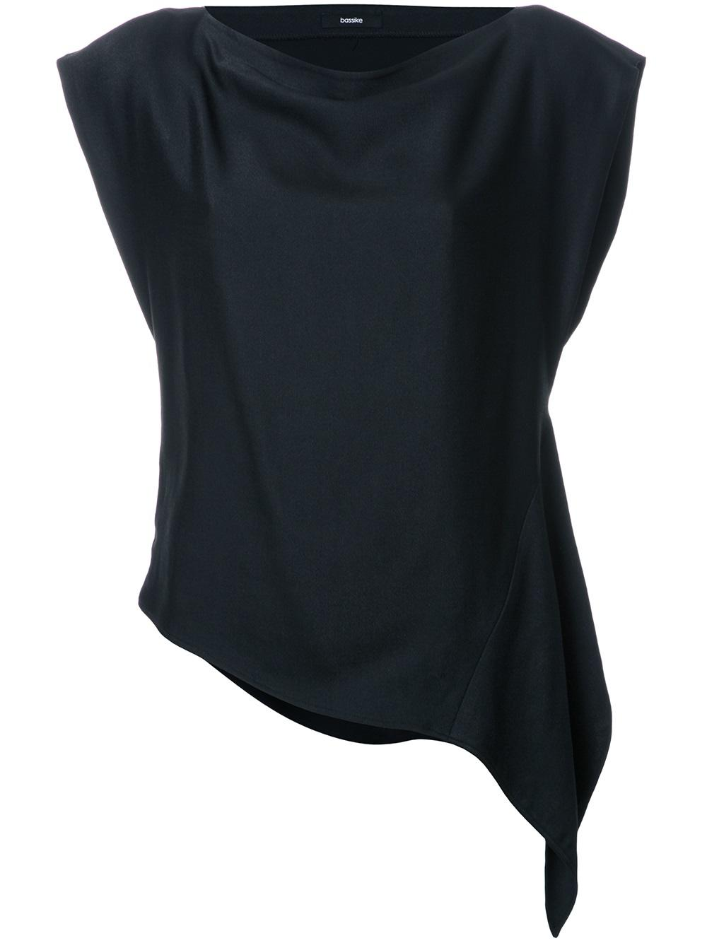 Bassike Crpe asymmetric blouse $465